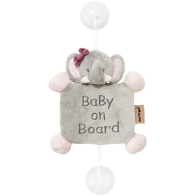 Игрушка мягкая Nattou Знак Baby on board Adele & Valentine Слоник 424356